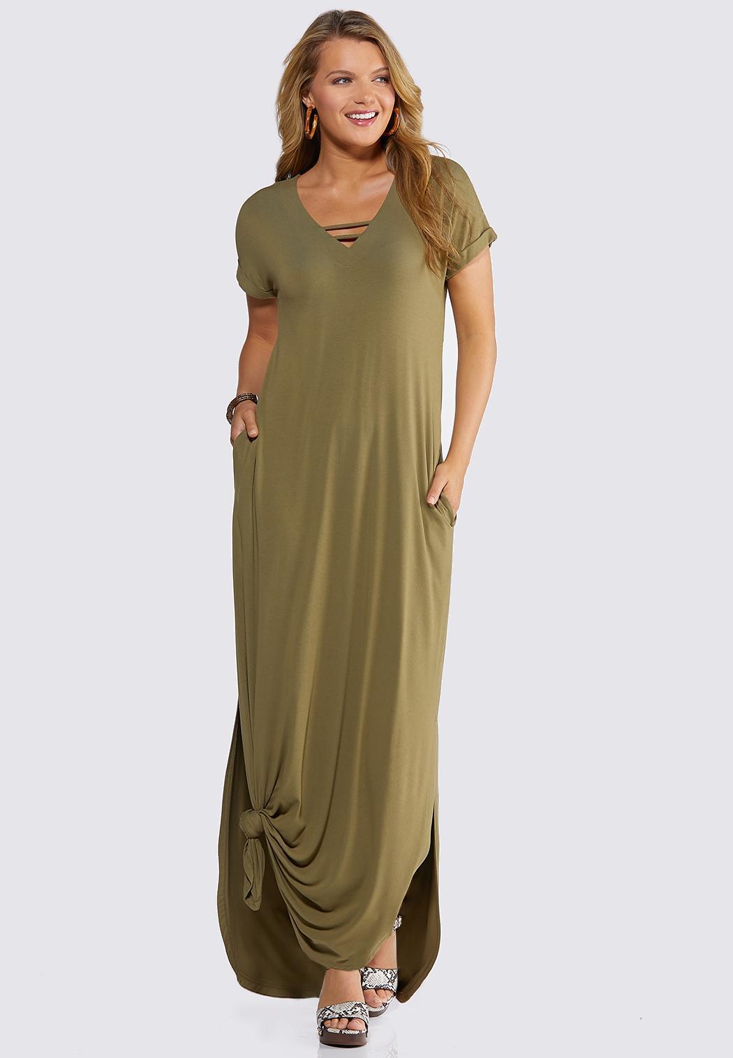 Strappy V-Neck Maxi Dress