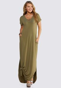 Plus Size Strappy V-Neck Maxi Dress