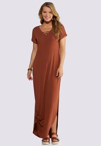 Plus Petite Strappy V-Neck Maxi Dress