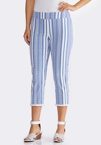 Striped Fringe Pants