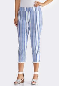 Striped Fringe Pants