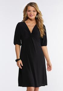Plus Size Twisted V-Neck Dress