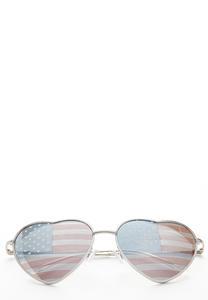 American Flag Heart Sunglasses