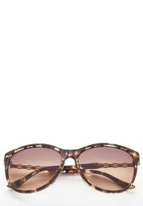 Green Tortoise Round Sunglasses