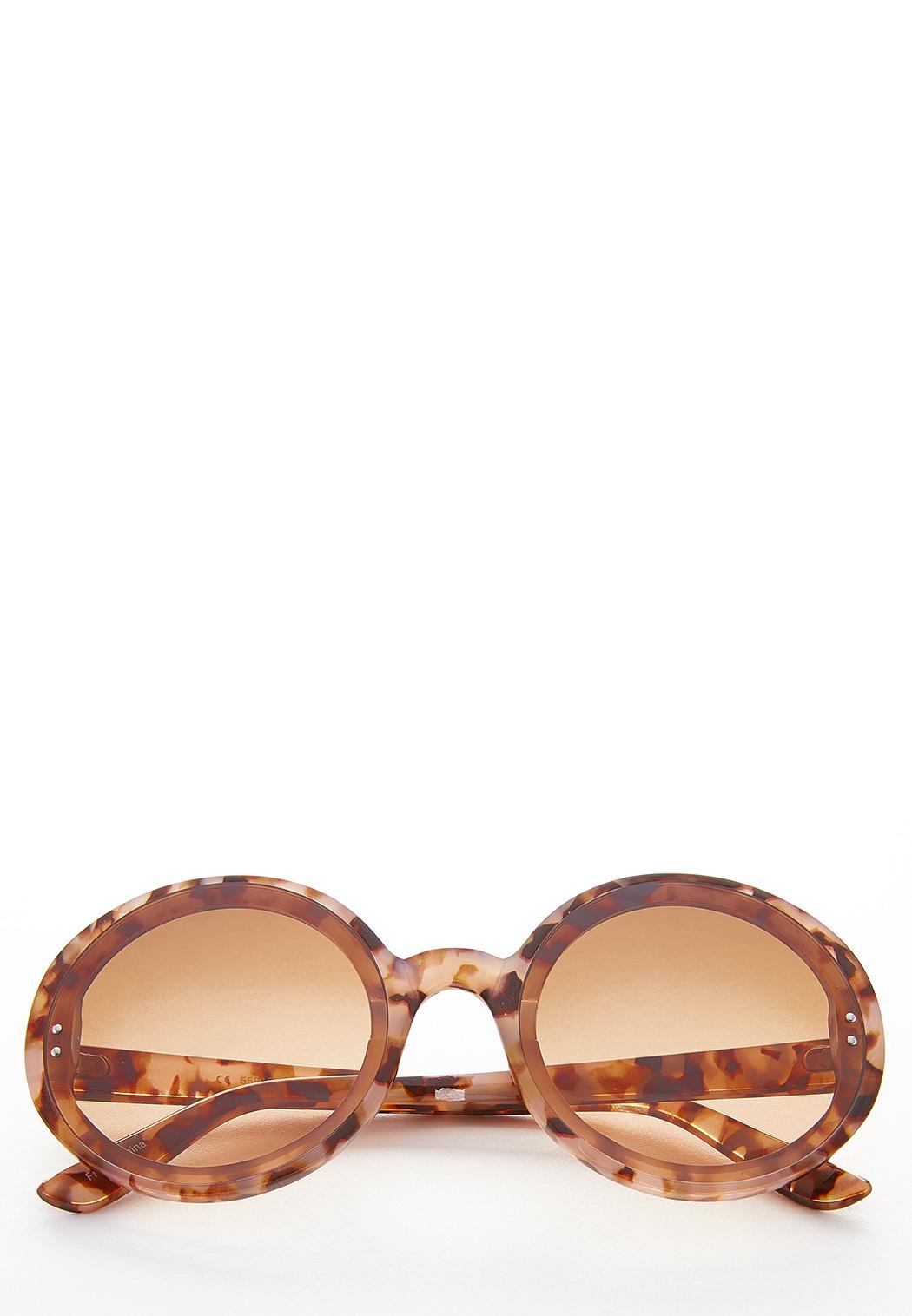 Tortoise Oversized Round Sunglasses