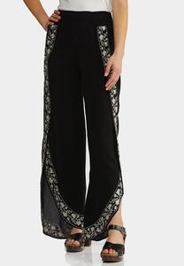 Gauzy Embroidered Flyaway Pants