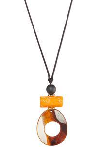Long Pendant Cord Necklace