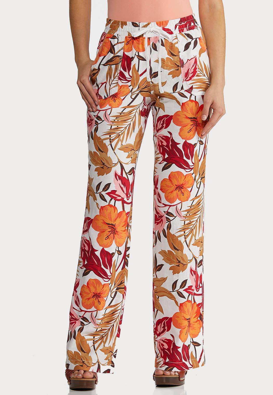 Tropical Linen Beach Pants