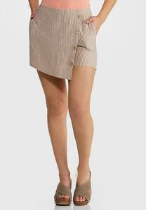 Button Wrap Skort