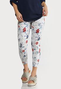 Cropped Butterfly Leggings