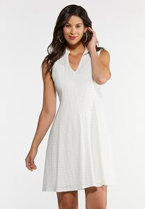 Plus Size Ruffled Eyelet Dress