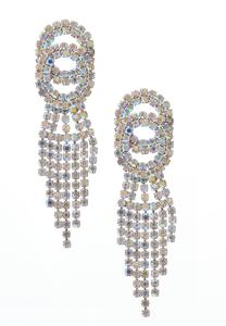 Hoop Waterfall Rhinestone Earrings