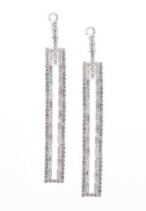 Statement Rhinestone Bar Earrings