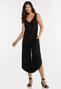 Plus Size Knotted Genie Jumpsuit