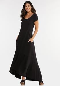 Plus Petite High-Low Maxi Dress