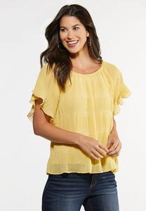 Flutter Sleeve Poet Top