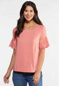 Solid Eyelet Top