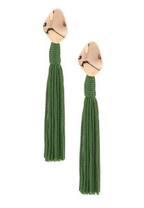 Metal and Tassel Earrings