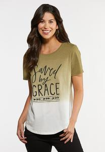 Plus Size Saved By Grace Tee