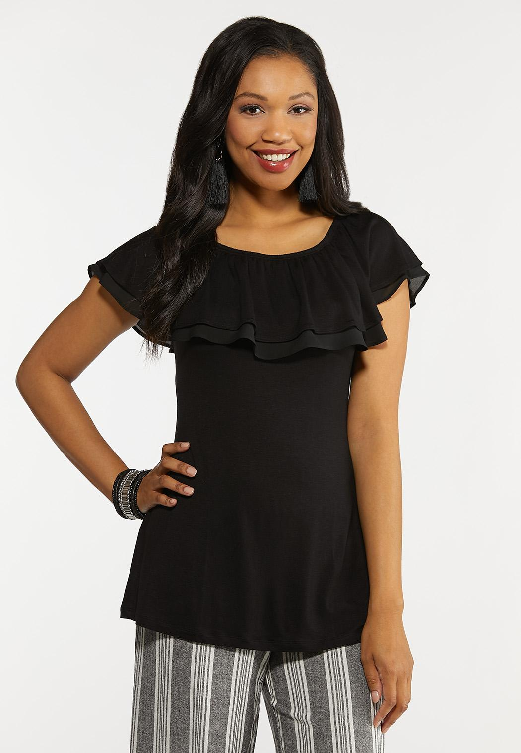 Convertible Ruffled Top