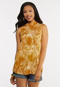 Plus Size Gold Leaf Swing Tank