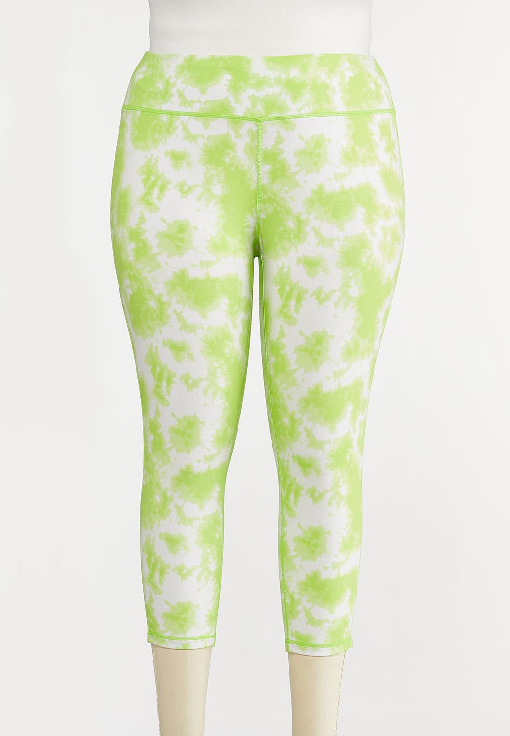 Plus Size Lime Tie Dye Leggings