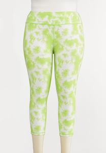 Plus Size Lime Tie Dye Leggings