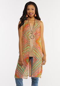 Summer Sheer Print Vest