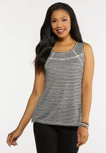 Stripe Crochet Tank