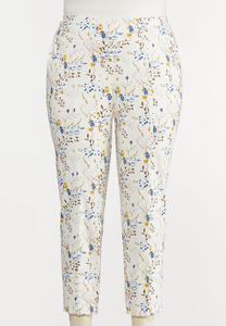 Plus Size Wild Floral Bengaline Pants