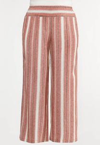 Plus Size Picante Stripe Linen Pants