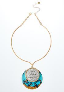 Inspirational Turquoise Pendant Necklace