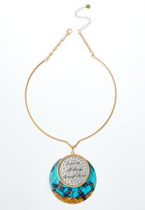Inspirational Turquoise Pendant Necklace