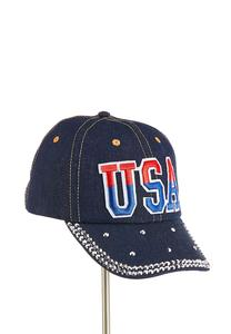 USA Embellished Denim Hat
