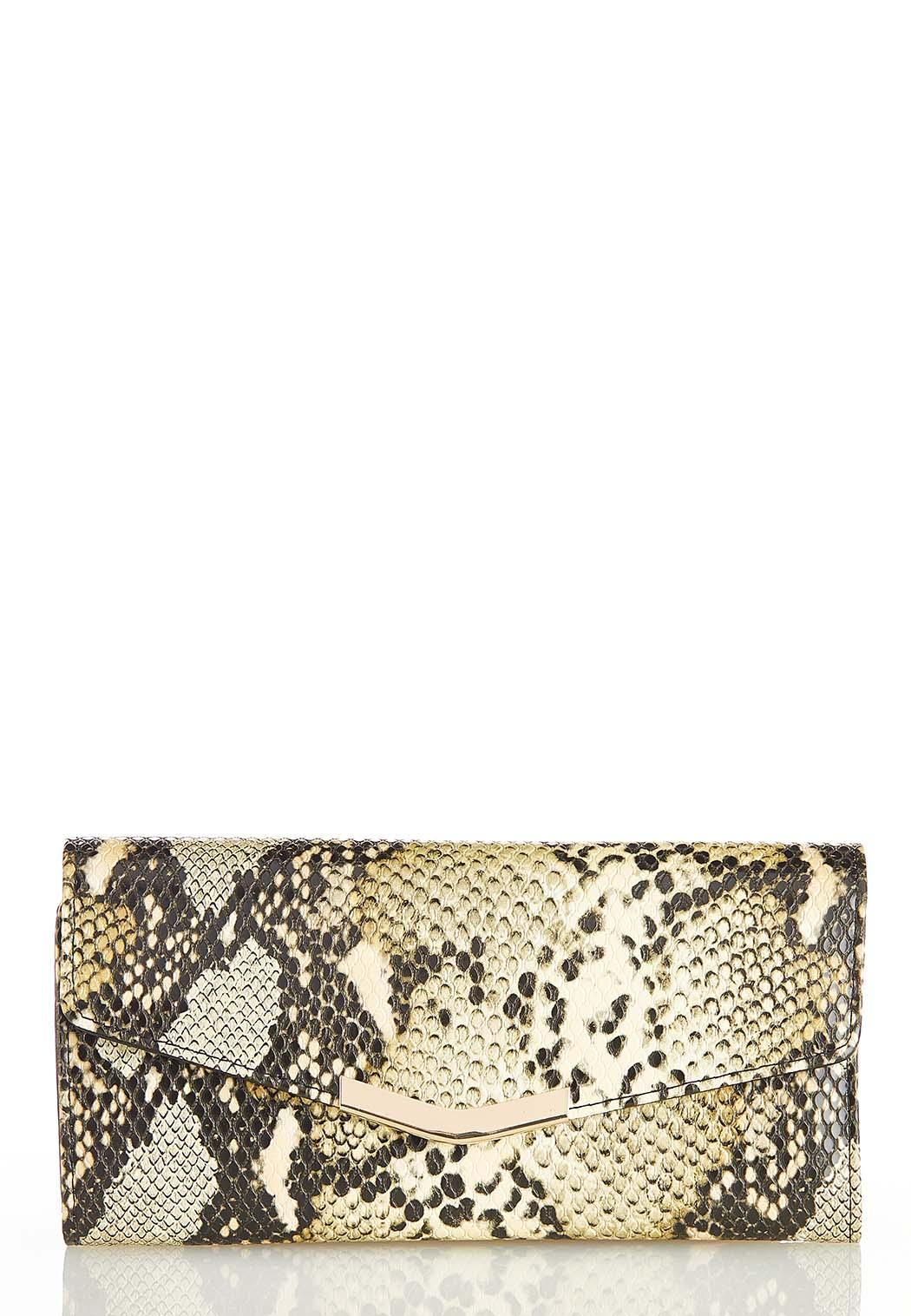 Snakeskin Gold Bar Wallet