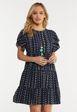 Navy Arrow Babydoll Dress