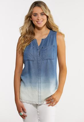 Ombre Denim Tank