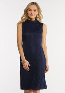 Lacy Mock Neck Dress