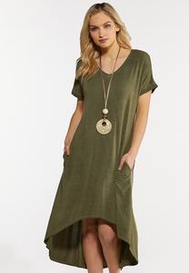 Olive High-Low Dress