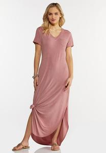 Rose Knotted Maxi Dress