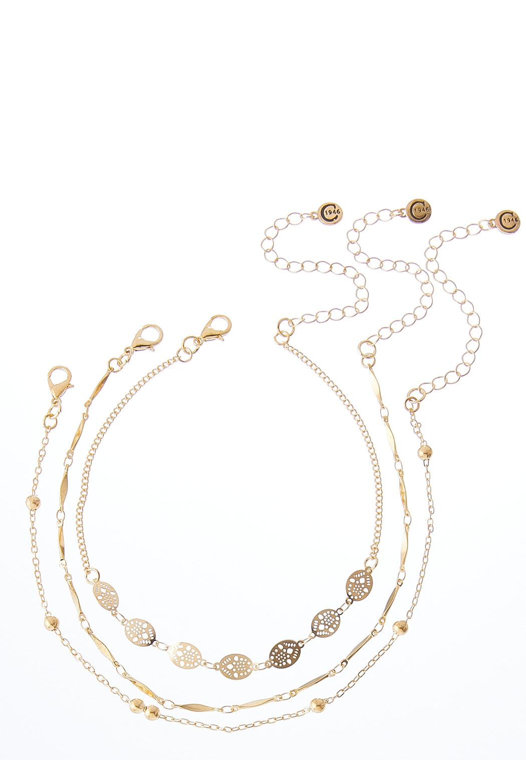 Layered Filigree Chain Anklet