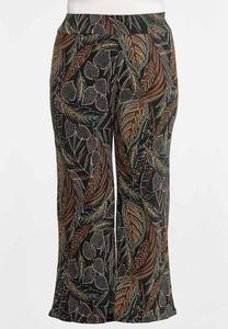 Plus Petite Jungle Leaf Wide Leg Pants