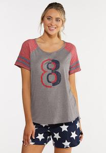Plus Size Sporty Number Tee
