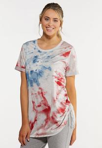 Plus Size Salute To Tie Dye Top
