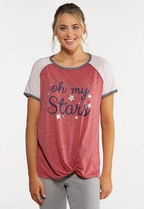 Plus Size Oh My Stars Baseball Tee