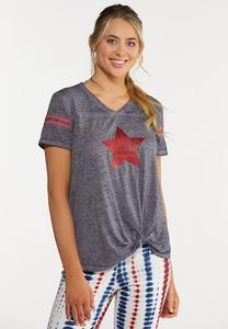 Sequin Star Tee