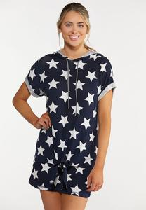 Plus Size American Star Hooded Top