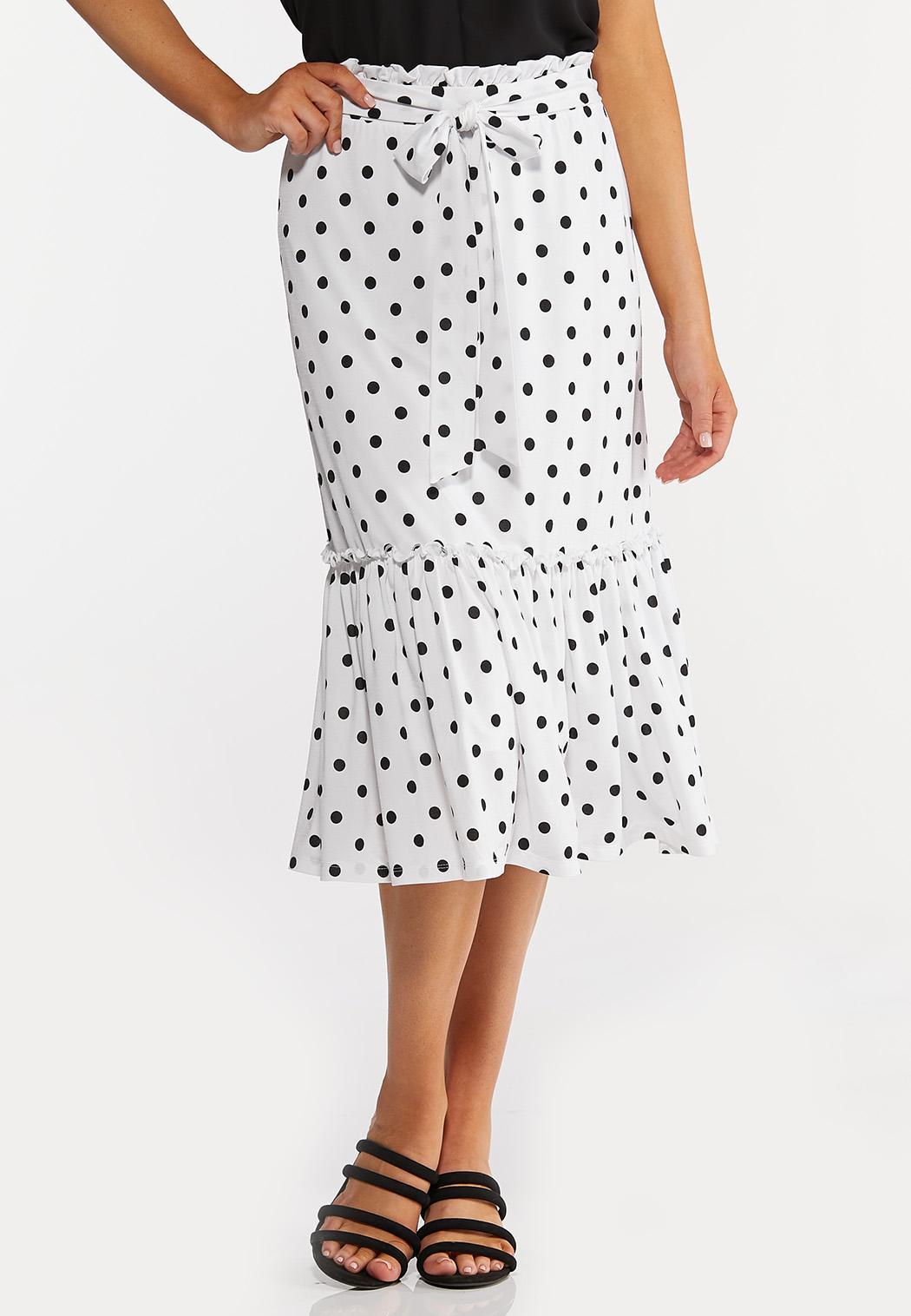 Dotted Flounce Skirt