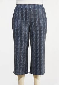 Plus Size Tribal Stripe Pants