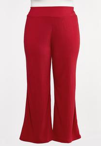 Plus Size Red Gauze Pants